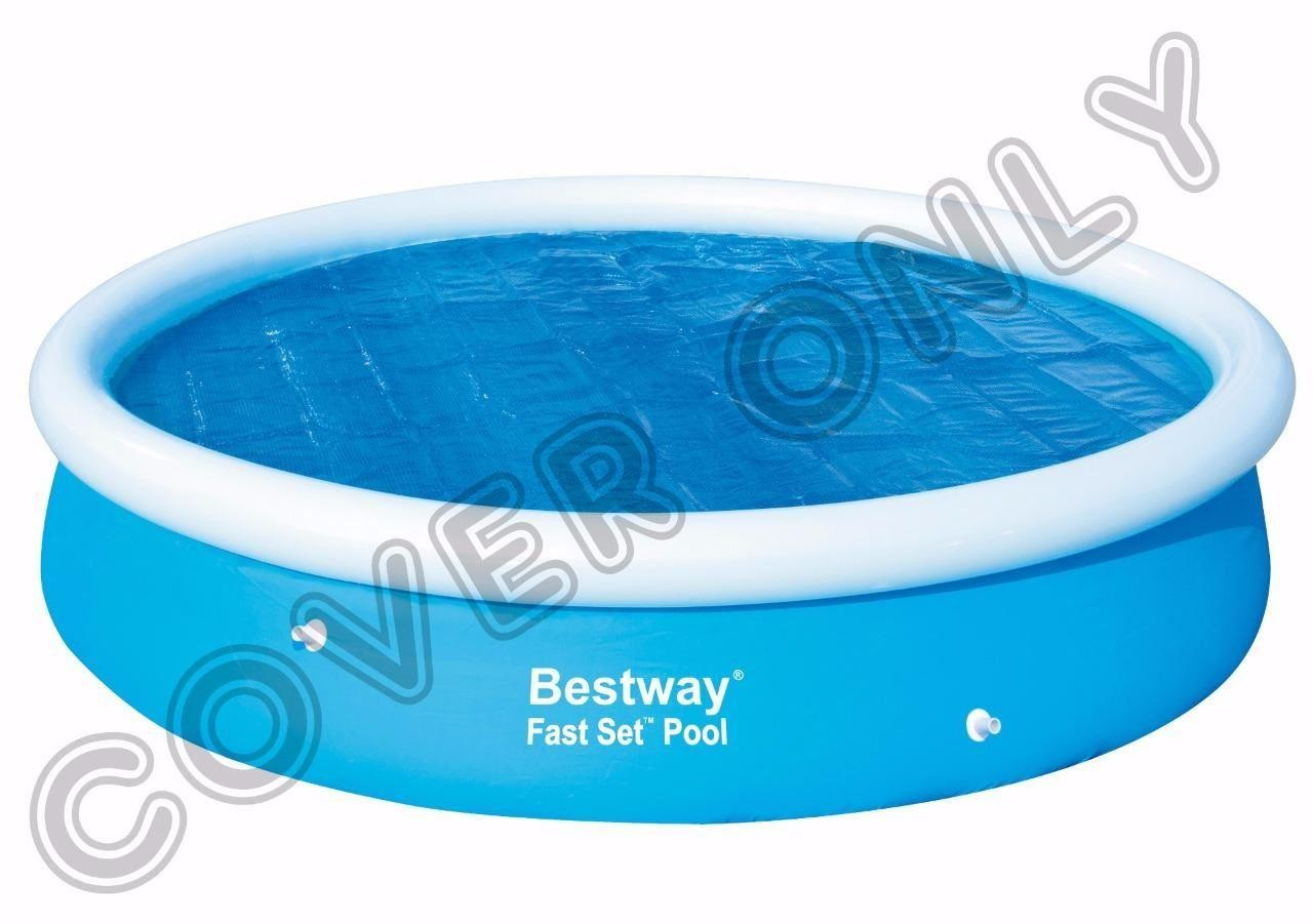 bestway 12 39 x 30 round solar swimming paddling pool cover. Black Bedroom Furniture Sets. Home Design Ideas