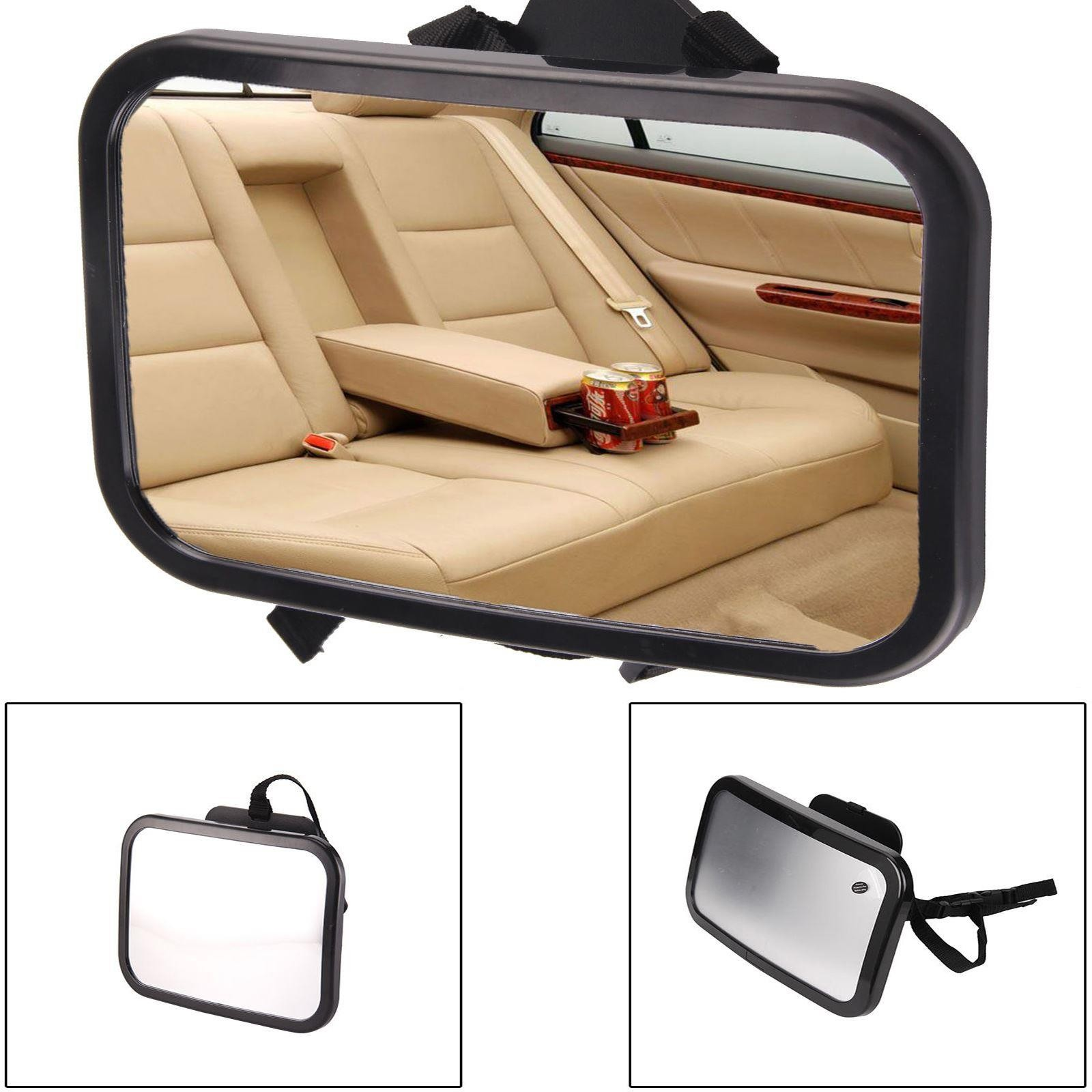 large wide baby child car safety back seat mirror rear view easily adjustable. Black Bedroom Furniture Sets. Home Design Ideas